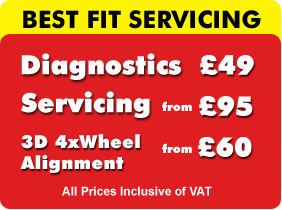 MOT Glasgow only £19.95, Servicing from £59 and Diagnostics £30 at Best Fit 429 Eglinton Toll, Glasgow G5 9SW, Tel: 0141-420-2020